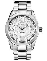 JBW Men's J6311B Analog Display Japanese Quartz Silver Watch