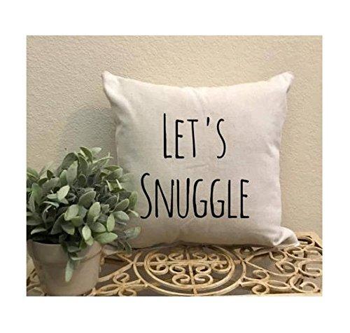 Let's Snuggle Pillowcase - Valentine Home Decor - Valentines Pillowcase - Valentine Pillow Cover - Snuggle Pillow Cover - Pillow Cover - Valentines Gift - Gift Idea - 16x16