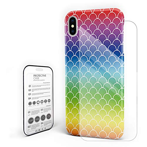Case for iPhone 6 Plus/iPhone 6sPlus Colorful Mermaid Fish Scale Professional Hard PC Material Shockproof Protective Case,Custom Cover for iPhone -