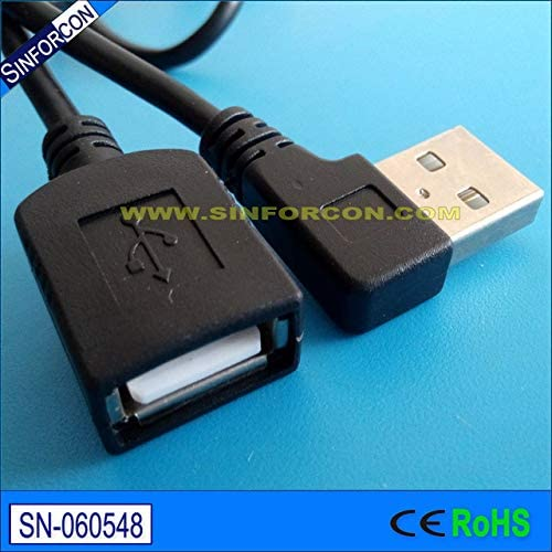 Cable Length: 20cm, Color: 90 Degree Left Computer Cables l Shape USB Cable 105 Degree Side Angled USB Cable