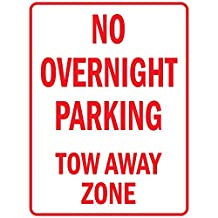 No Overnight Parking Tow Away Zone Vinyl LABEL DECAL STICKER