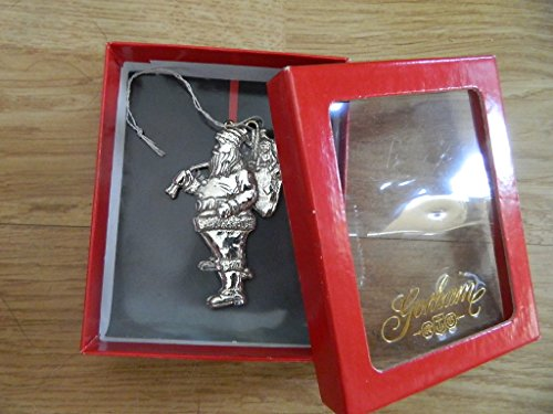 Vintage Gorham Silver Plated Santa with Toy Pack Ornament (Gorham Silver Plated)