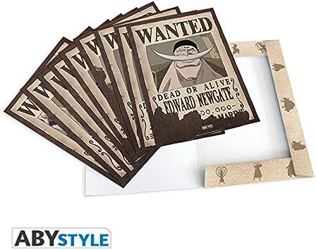 ABYstyle–ABYDCO311 –Lote de 9pósters, diseñoWantedde Personajes de One Piece,Personajes#2–21x 29,7cm