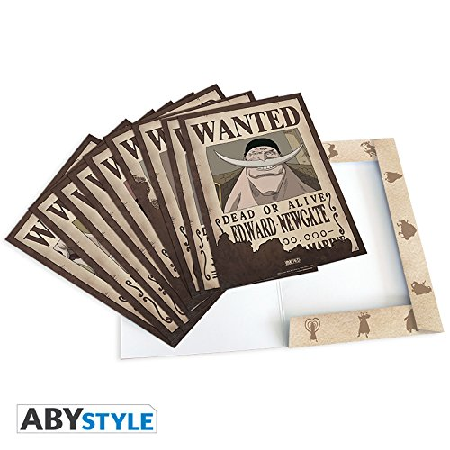 ABYstyle – ABYDCO311 – Lote de 9 pósters, diseño Wanted de Personajes de One Piece, Personajes#2 – 21 x 29,7 cm
