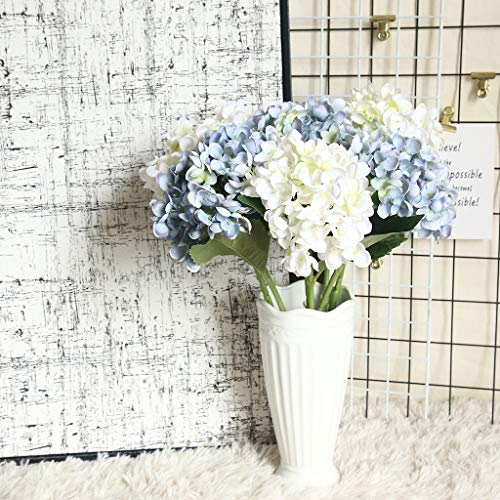 Gotian Artificial Flower Hydrangea Fake Silk Flower Home Wedding Party Floral Decor, Suitable for Creating Floral Displays and Adding Color and Style Decoration (J)
