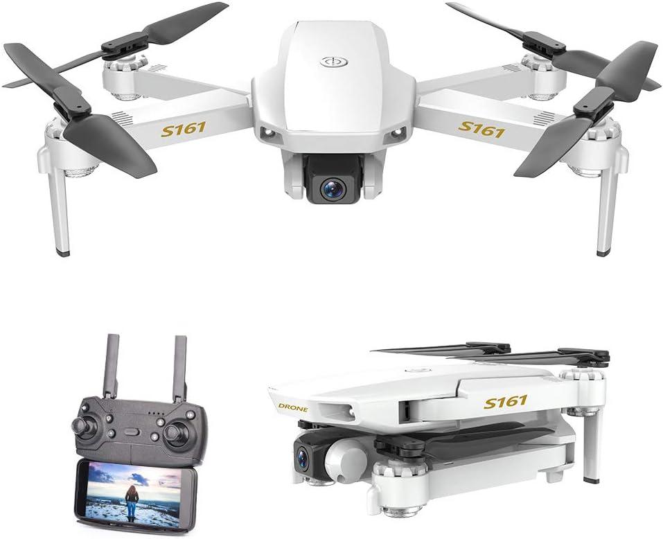 GoolRC CSJ S161 Mini Drone Pro con Cámara 4K Posicionamiento de Flujo óptico Cámara Dual Altitud Hold Gesto Fotos Video 3D FILP Track Flight RC ...