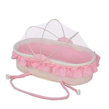 Cuna de bebé plegable portátil para bebé, camas de guardería, colchón para bebés, dormir, manualidades, dormir, cesta cómoda de algodón: Amazon.es: Bebé
