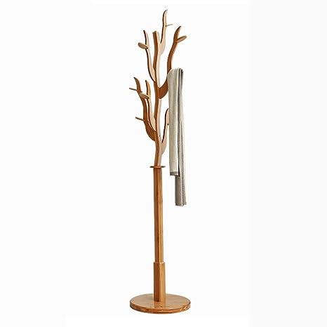 Perchero de bambú Perchero Perchero Colgador de ropa Bolso ...