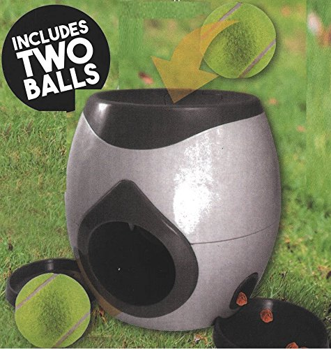 SmartChoice Fetch And Treat Dog Ball Game Two Balls Dog Interactive Game Treat Dispenser 2