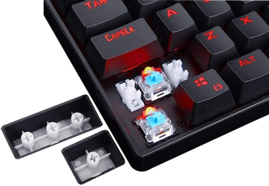 DADUIZHANG Profession Game Mechanical Gaming Keyboard 104 Keys Led Backlit Illuminated Abs-Metal Gaming Keyboard Blue Switches for Pcblack