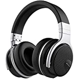 meidong Mighty Rock E7 Active Noise Cancelling Bluetooth Headphones Over Ear with Microphone Hi-Fi Deep Bass Comfortable Protein Earpads Wireless Headphones, 30 Hours Playtime for Music