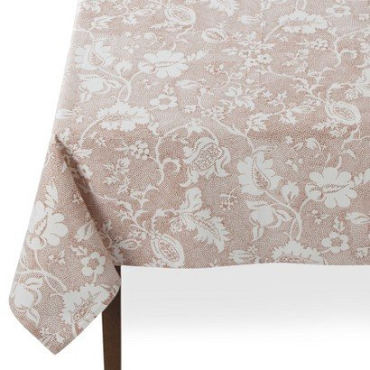 Threshold Jacobean Floral Tablecloth - Orange (60