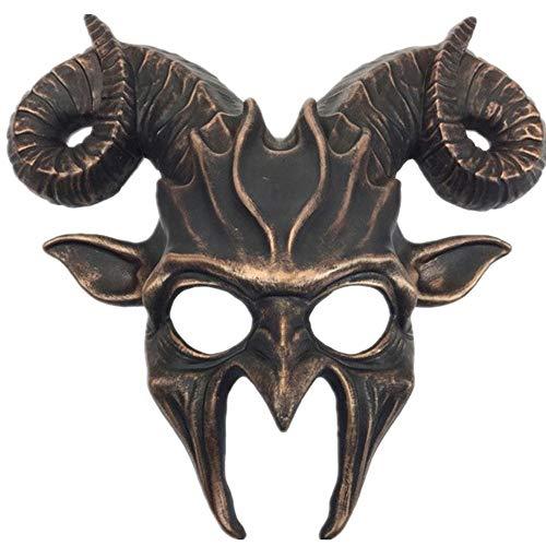 Storm Buy] Ram Goat Series Face Masquerade Animal Devil Mask Costume Halloween Horror Demon -
