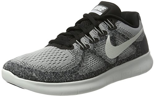 NIKE Women's Free RN 2017 Running Shoe, Wolf Grey/Off White-Pure Platinum-Black (Size 7.5) (Nike Women Shox Shoes)