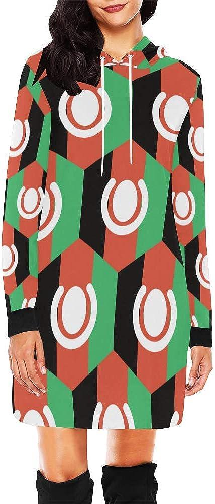 Lumos3DPrint Afghanistan Flag Womens Hoodie Mini Dress