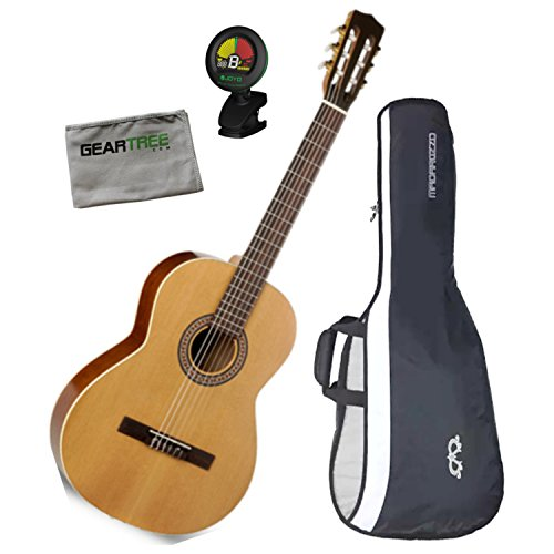 La Patrie Etude Classical Acoustic Guitar w/Gig Bag, Geartree Cloth, and Tuner (La Patrie Classical Guitars)