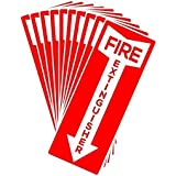 """Fire Extinguisher Stickers, 4.25"""" x 11"""", 10 Pack, Durable, Self-Adhesive Decals, UV Protected and Waterproof"""