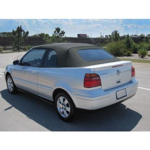 VW Cabrio 2001-2002 Convertible Top with Glass Window in Black (Glass Convertible Top Rear Window)
