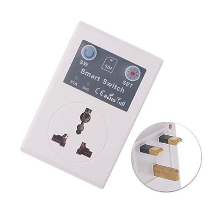EeSxin EU/UK 220V Phone RC Remote Wireless Control Smart Switch GSM Socket Power Plug