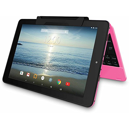 """2016 Newest Premium High Performance RCA Viking Pro 10.1"""" 2-in-1 Touchscreen Laptop Computer Tablet Quad-Core Processor 1G Memory 32GB Hard Drive Detachable-Keyboard Webcam Android 5.0 Lollipop Pink"""