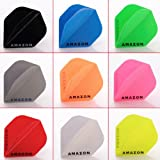 5 x Mixed Sets of Amazon Solid Colours Dart Flights Standard Shape