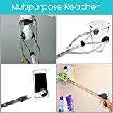 "Suction Cup Reacher Grabber by VIVE - 32"" Heavy Duty Mobility Grip Aid - Tool for Light Bulb Remover, iPad Pick Up, Litter Picker, Trash / Garbage, Garden Nabber, Long Extender"