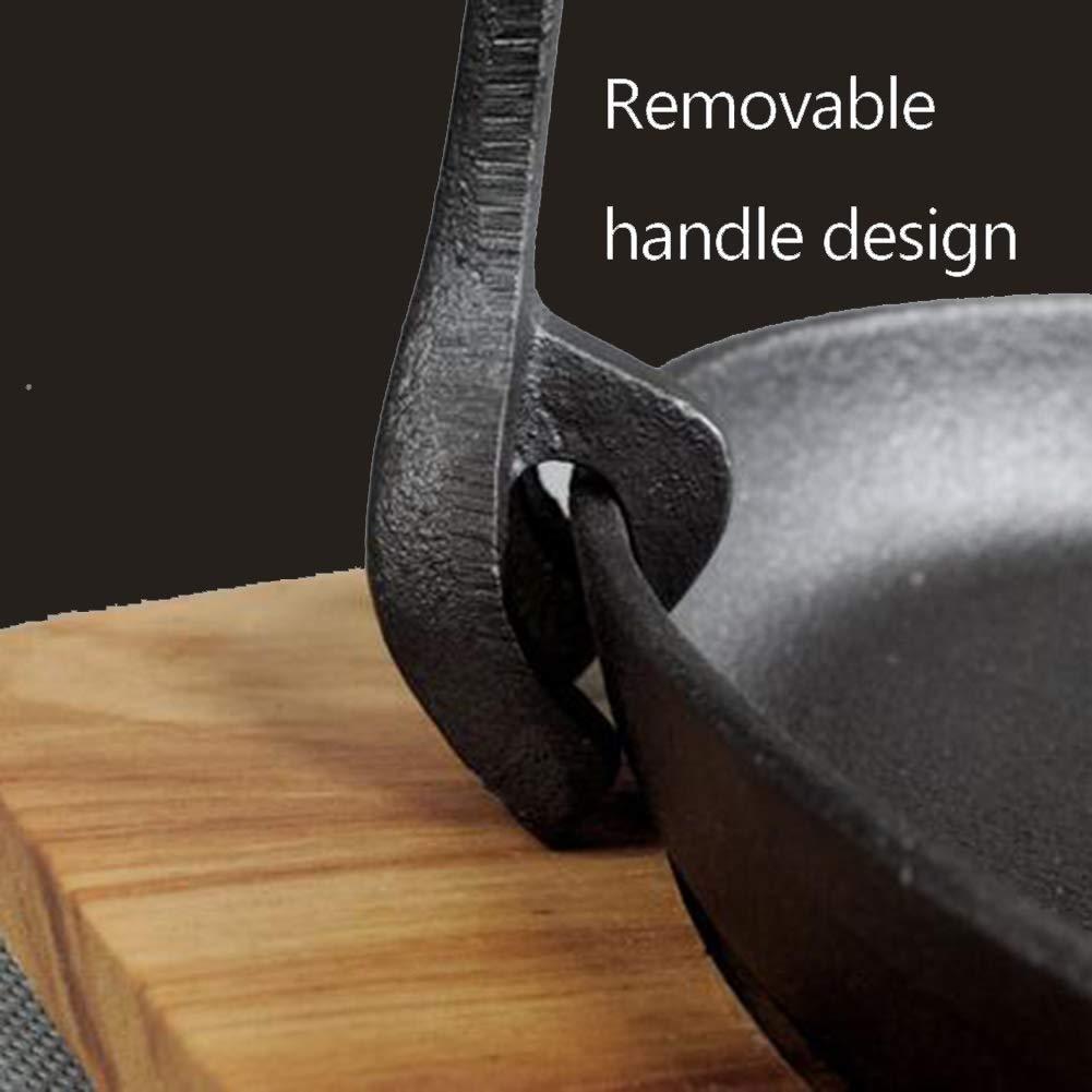 Amazon.com: LLDDP - Sartén de hierro fundido para todas las ...