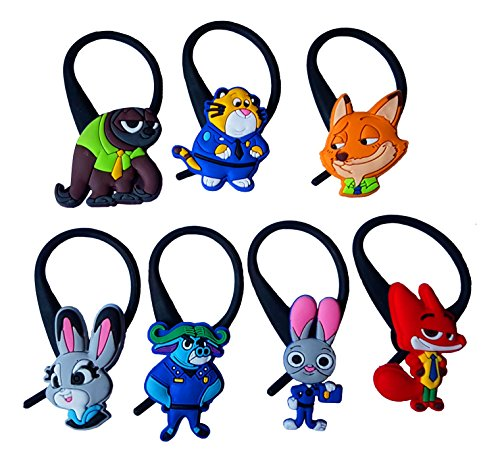 AVIRGO 7 pcs Soft Zipper Pull Charms for Jacket Backpack Bag Pendant Set # 138 - 3 - Mrs Mayor Costume