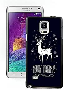 Customization Merry Christmas Black Samsung Galaxy Note 4 Case 5
