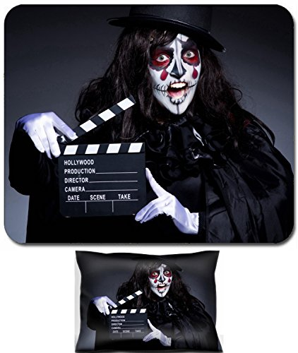 Liili Mouse Wrist Rest and Small Mousepad Set, 2pc Wrist Support ID: 22581325 Monster with movie clapper board