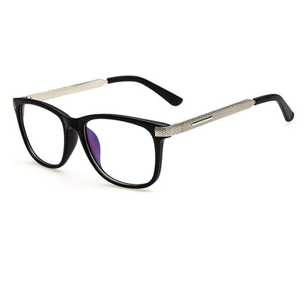 YLBHXC Gafas con Montura Moda Cool Glasses Mujeres Retro Vintage Reading Miop/ía Gafas Marco Hombres Gafas Cuadradas Optical Clear Eyewear Oculos Frame Color : Brown