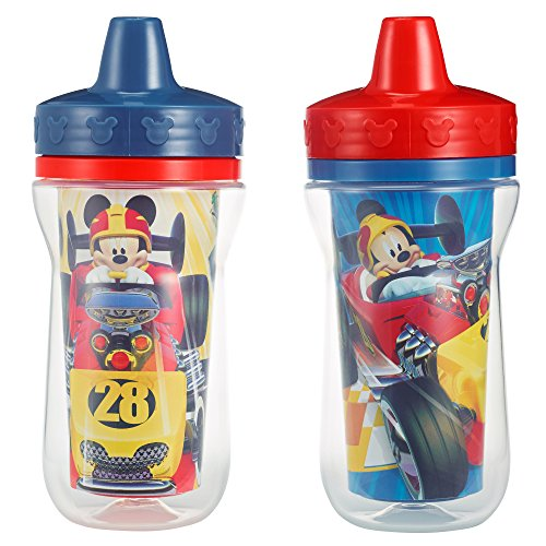 The First Years 2 Pack 9 Ounce Insulated Sippy Cup, Mickey Mouse (Color and design may vary) ()