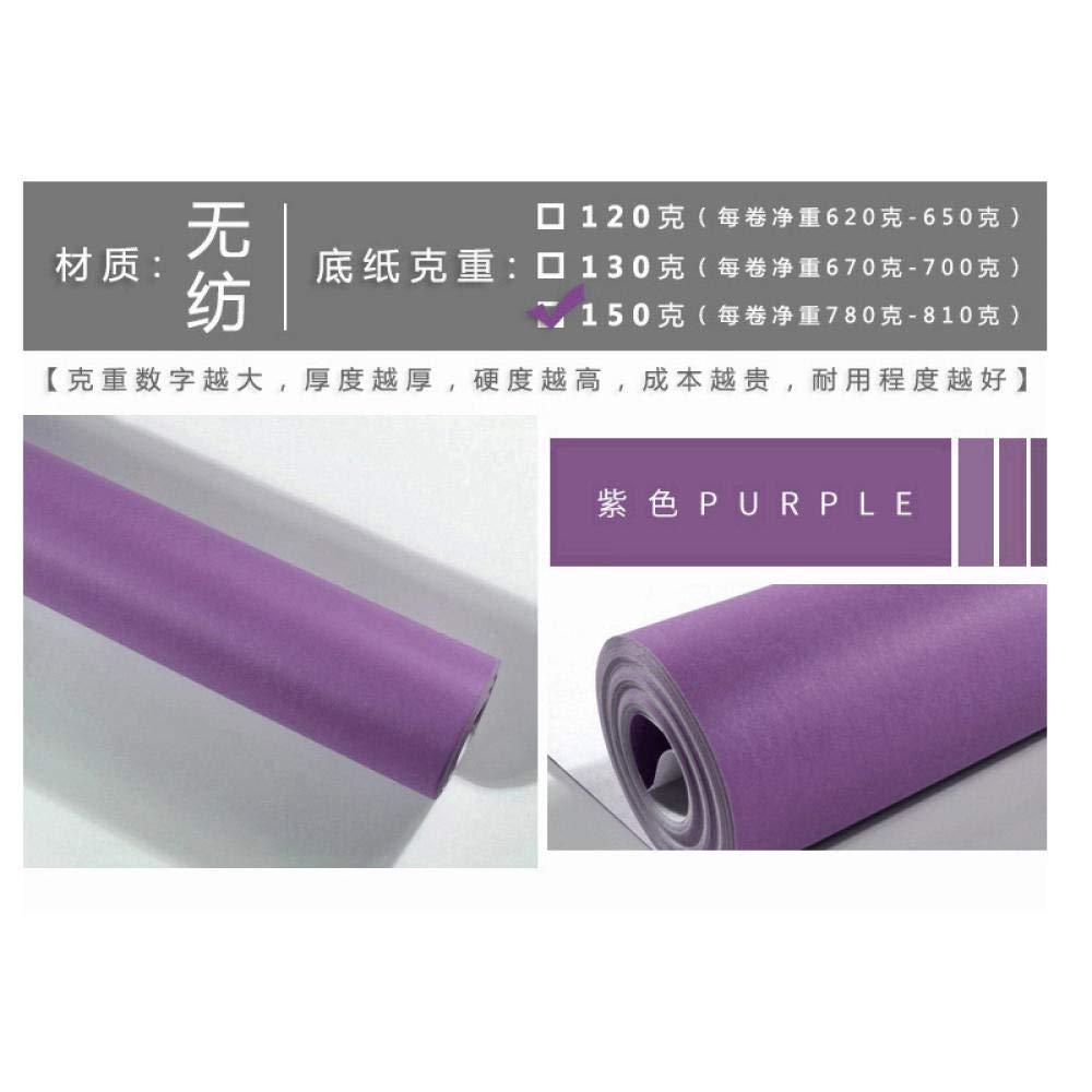 KAMAUAY Papel Pintado Morado Moderno Minimalista Color Liso Liso