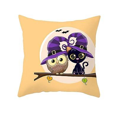 FELZ Funda de Cojín 45X45 Halloween Funda de almohada Owl ...