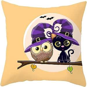 YWLINK DecoracióN del Hogar De Halloween Funda De Almohada De Dibujos Animados BúHo Abrazo Dormitorio De Los NiñOs CojíN De La Cintura ExtraíBle Arrojar Almohada Funda De CojíN Sin Almohada: Amazon.es: Hogar