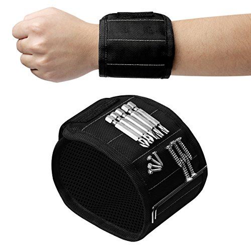 Magnetic Wristband, LUTER Magnetic Armband Screw Holder with