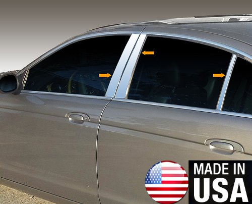 Made in USA! Works With 03-07 Jaguar S-Type 6 PC Stainless Steel Chrome Pillar Post Trim MaxMate