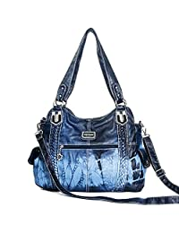 Angel Barcelo Purses and Handbags for Women Ladies'Shoulder Bag Designer Tie Dye Satchel Fashion Totes for Gril