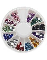فن تزيين الأظافر | 12 لون مستديرة الشكل متعددة الألوان من حجر الراين 3399