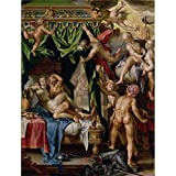The High Quality Polyster Canvas Of Oil Painting  Mars And Venus Surprised By The Gods, 1610 - 1614 By Joachim...