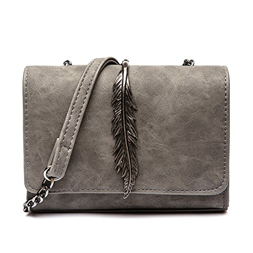 Ninepercent Leaves Decorated Mini Flap Bag Suede PU Leather Small Women Shoulder Bag Chain Messenger Bag
