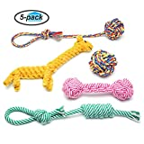 Dot Rope Toys Set, Focuspet Pet Rope Toys Puppy Dog Braided Rope Chew Durable Interactive Cotton Toys Dental Health Teeth Cleaning For Small to Medium Dogs For Boredom (Pack of 5 pcs)