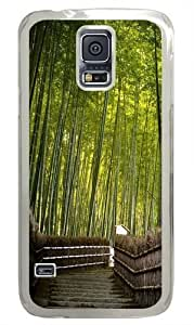 Bamboo forest PC Case Cover for Samsung S5 and Samsung Galaxy S5 Transparent
