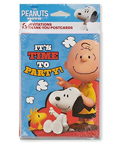 American Greetings Peanuts Invite and Thank You Combo
