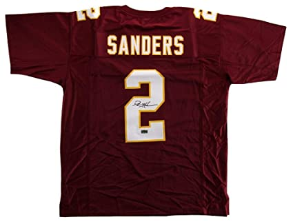 huge discount 24375 8337a Autographed Deion Sanders Jersey - Maroon Throwback Custom ...