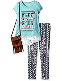 Big Girls' 3pc Top/Legging/Purse Set