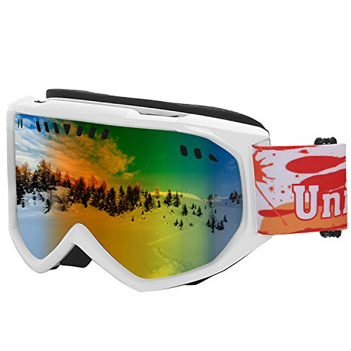 Unigear Ski Goggles, Anti-fog Snow Snowboard OTG Goggles 100% UV Protection for Men, Women and Youth