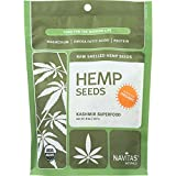 Navitas Naturals Hemp Seeds - Organic - Shelled - 8 oz - case of 12 - 95%+ Organic - Yeast Free - Wheat Free-