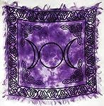 "Triple Moon Altar Cloth 18"" x 18"""