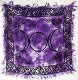 Triple Moon Altar Cloth 18 x 18 by New Age